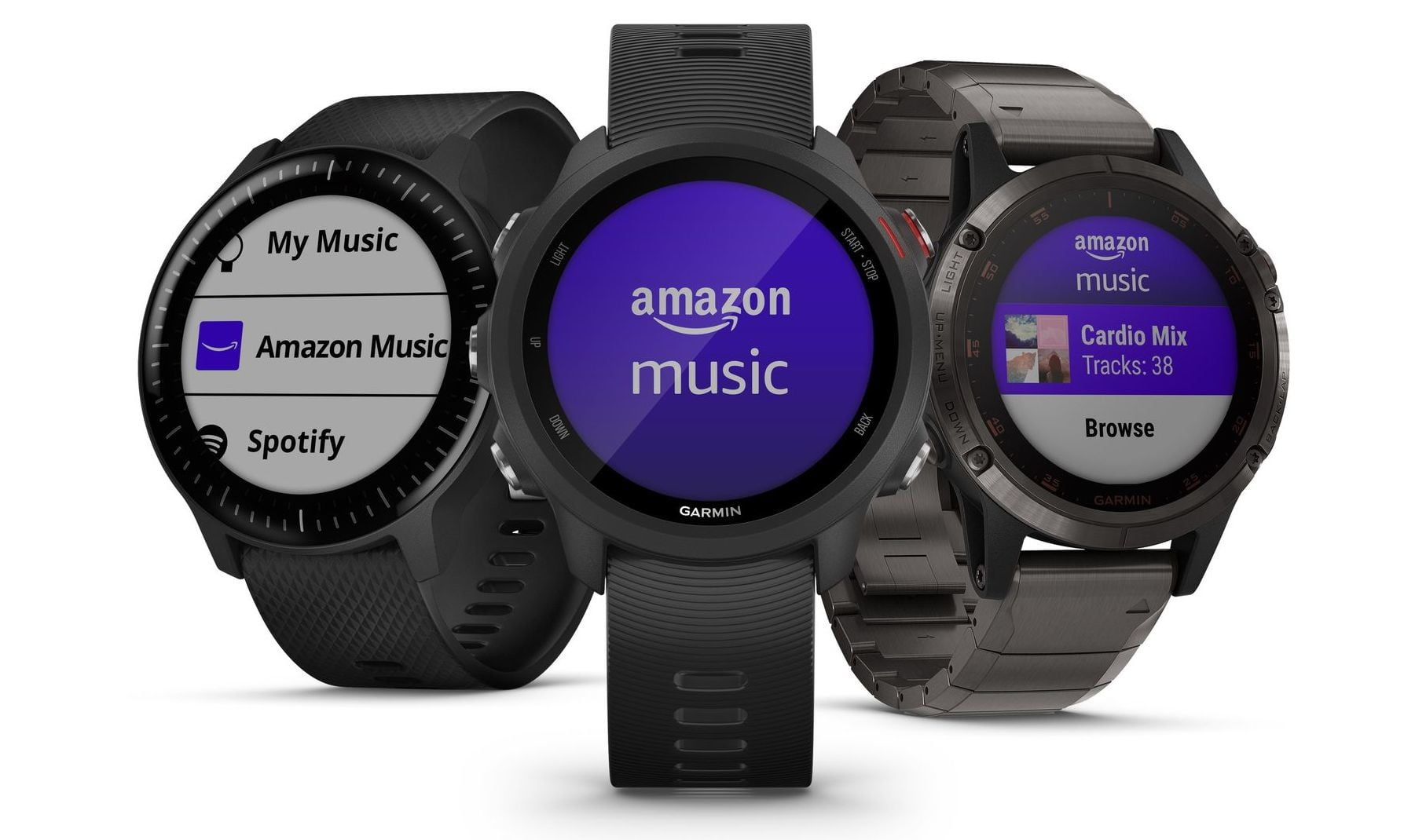 Garmin's fitness smartwatches are the first to offer Amazon Music