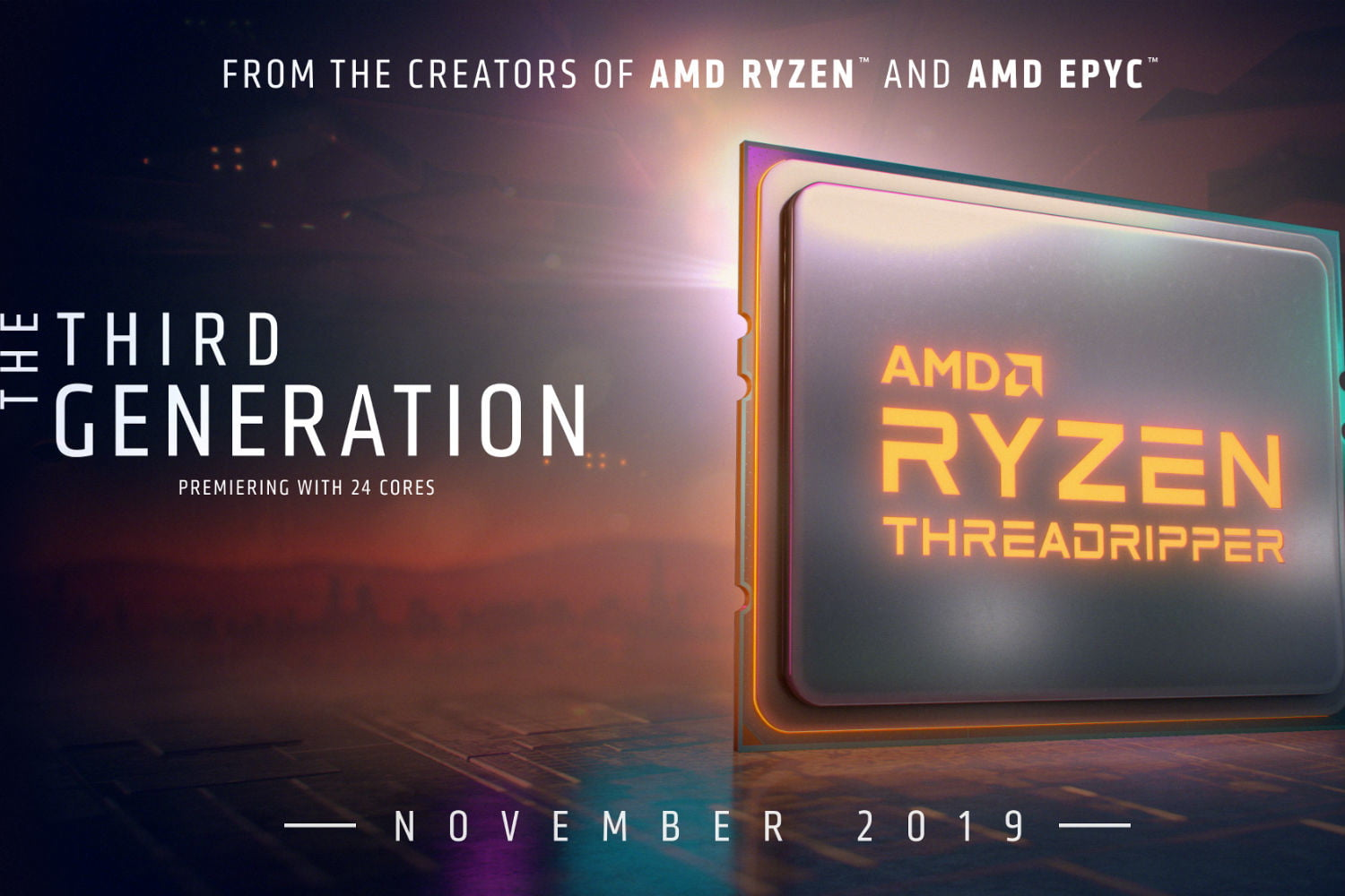 AMD's Threadripper 3000 will launch in November. Here's the first official image