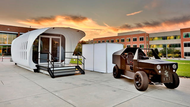 sustainable 3d printed home gets energy from companion car amie 1 0 som 007