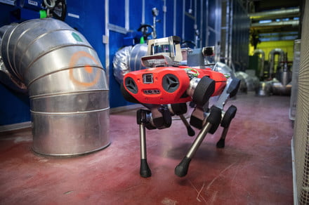 Move over Spot. There's a new robo-dog on the block — and it's waterproof