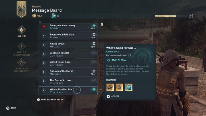 A series of bounties and contracts in Assassin's Creed Odyssey.