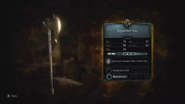 Assassin's Creed Valhalla The Sepulcher Axe