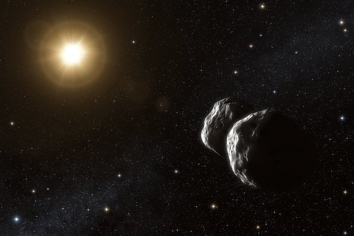 Artist's impression of the asteroid (234) Barbara.