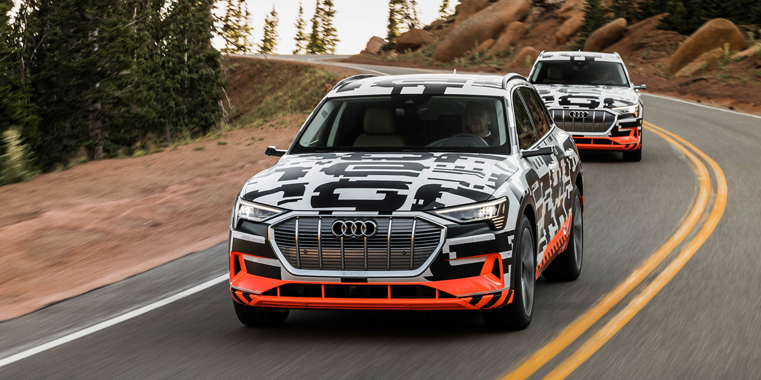 Riding along in Audi's e-tron, the electric SUV born to slay Teslas