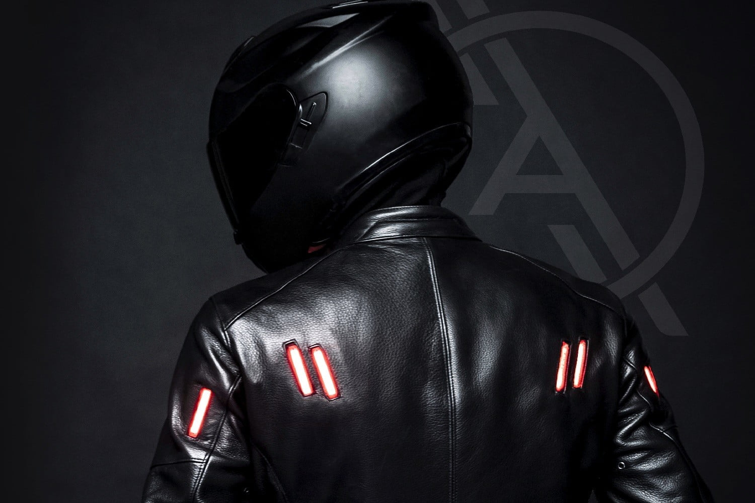 Bright idea: this motorcycle jacket has built-in lights that sync with your bike