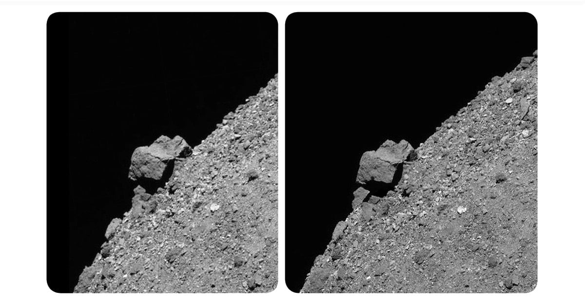 Burnin' Through the Sky: Stereoscopic Image of Asteroid by Brian May