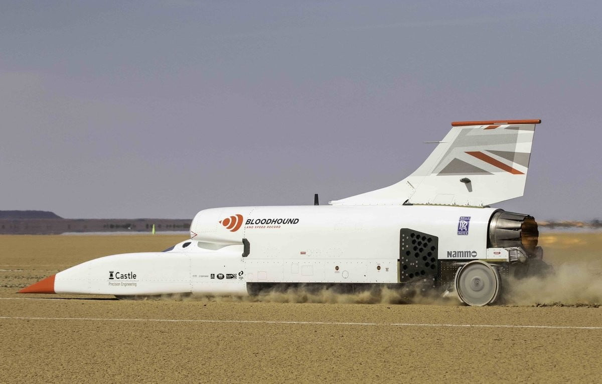 Bloodhound supersonic car eyes land speed record after 500 mph test run