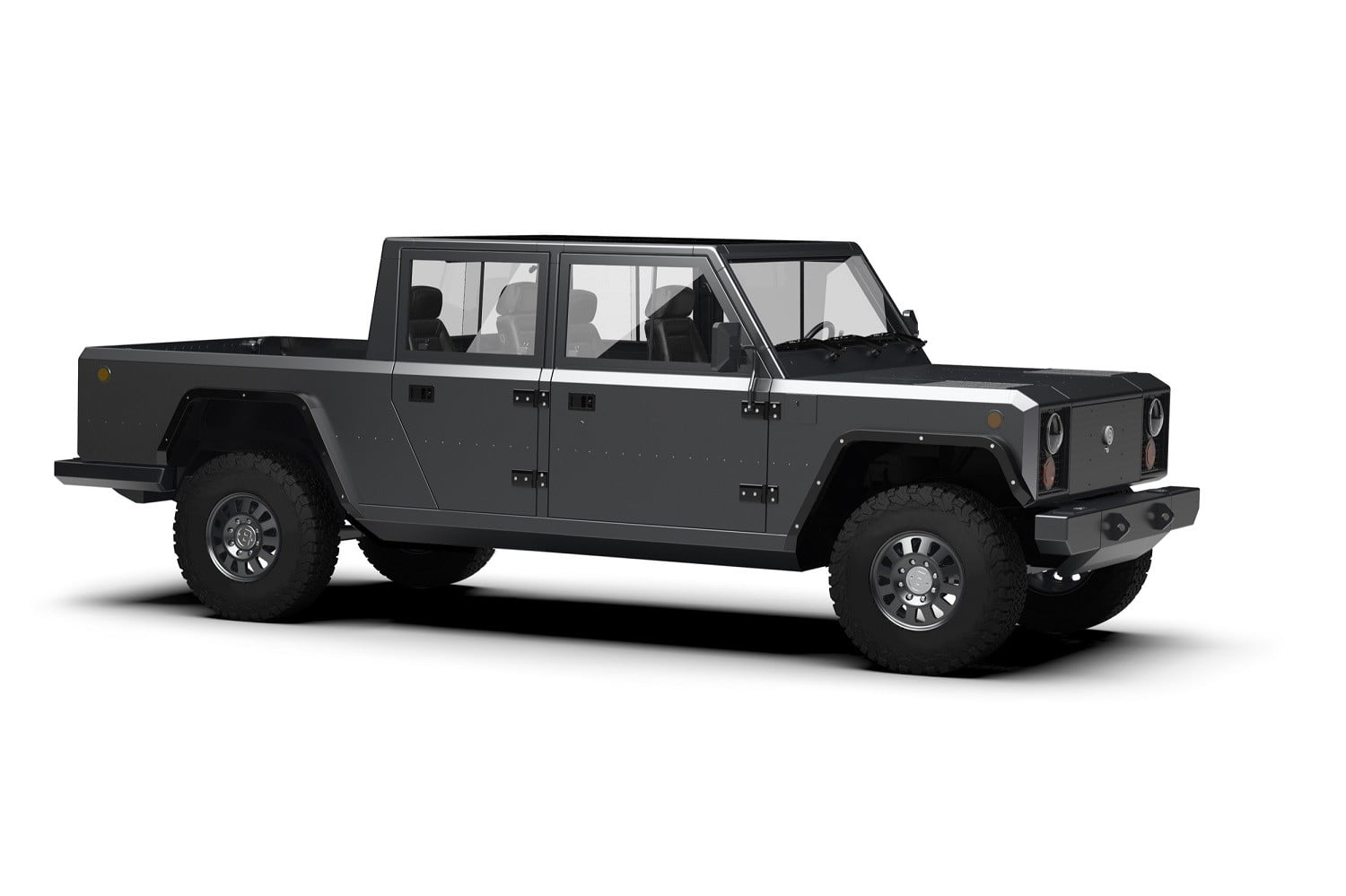 Tread lightly in Bollinger's ruggedly cool electric pickup truck