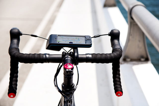 bycle case and app turns iphone into bike computer for tracking rides mount 18