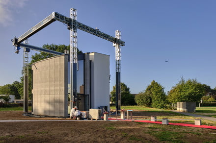 Europe's biggest 3D printer helps create an entire two-story house