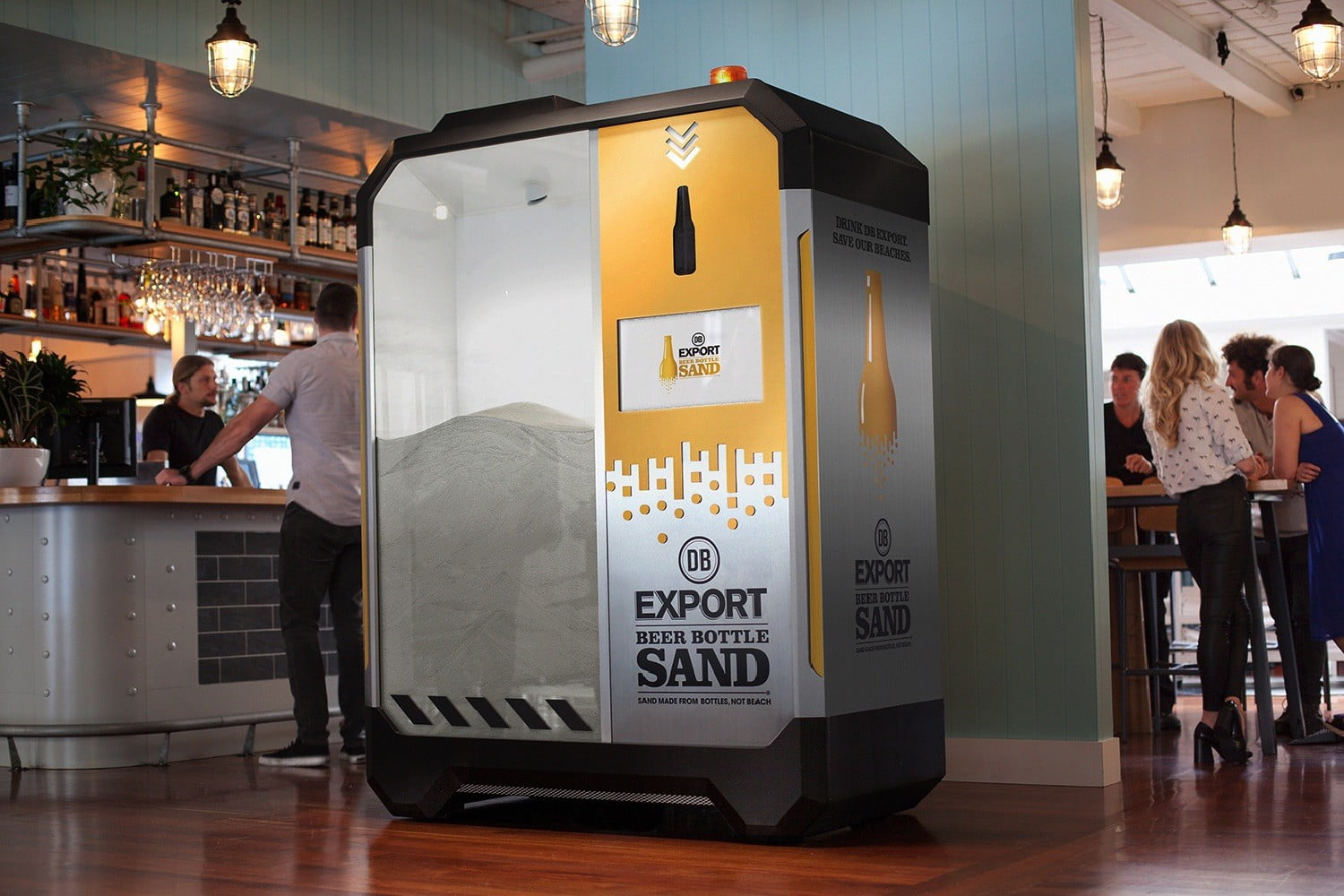 This Machine Crushes Empty Beer Bottles Into Sand In Just 5 ...
