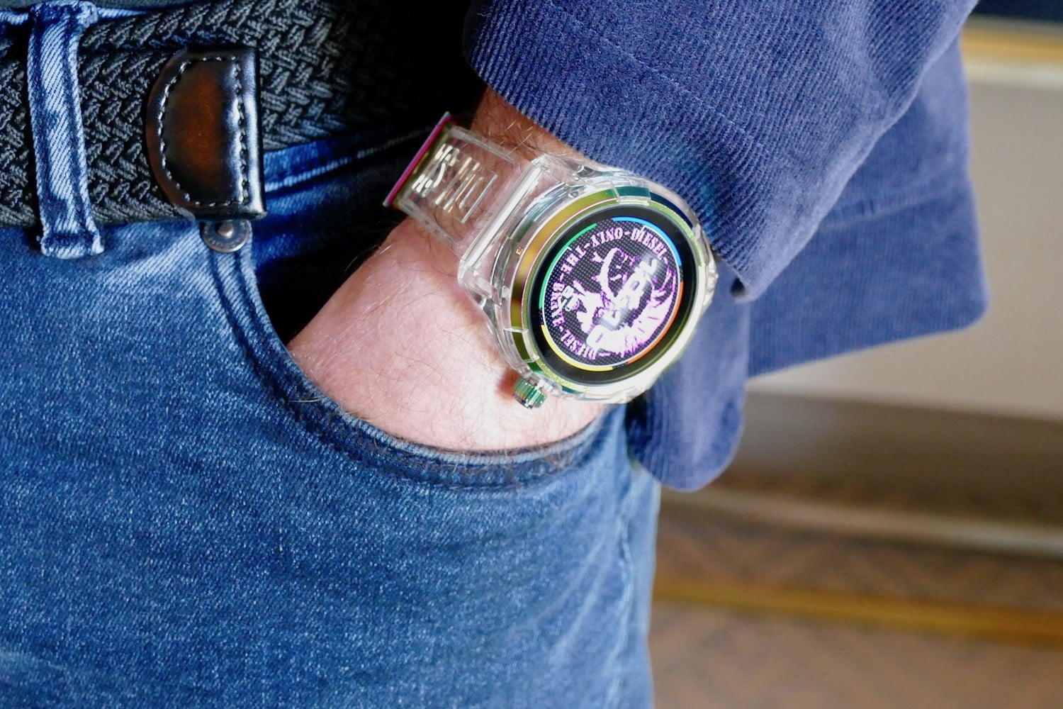 You won't disappear with Diesel's fabulous On Fadelite smartwatch on your wrist