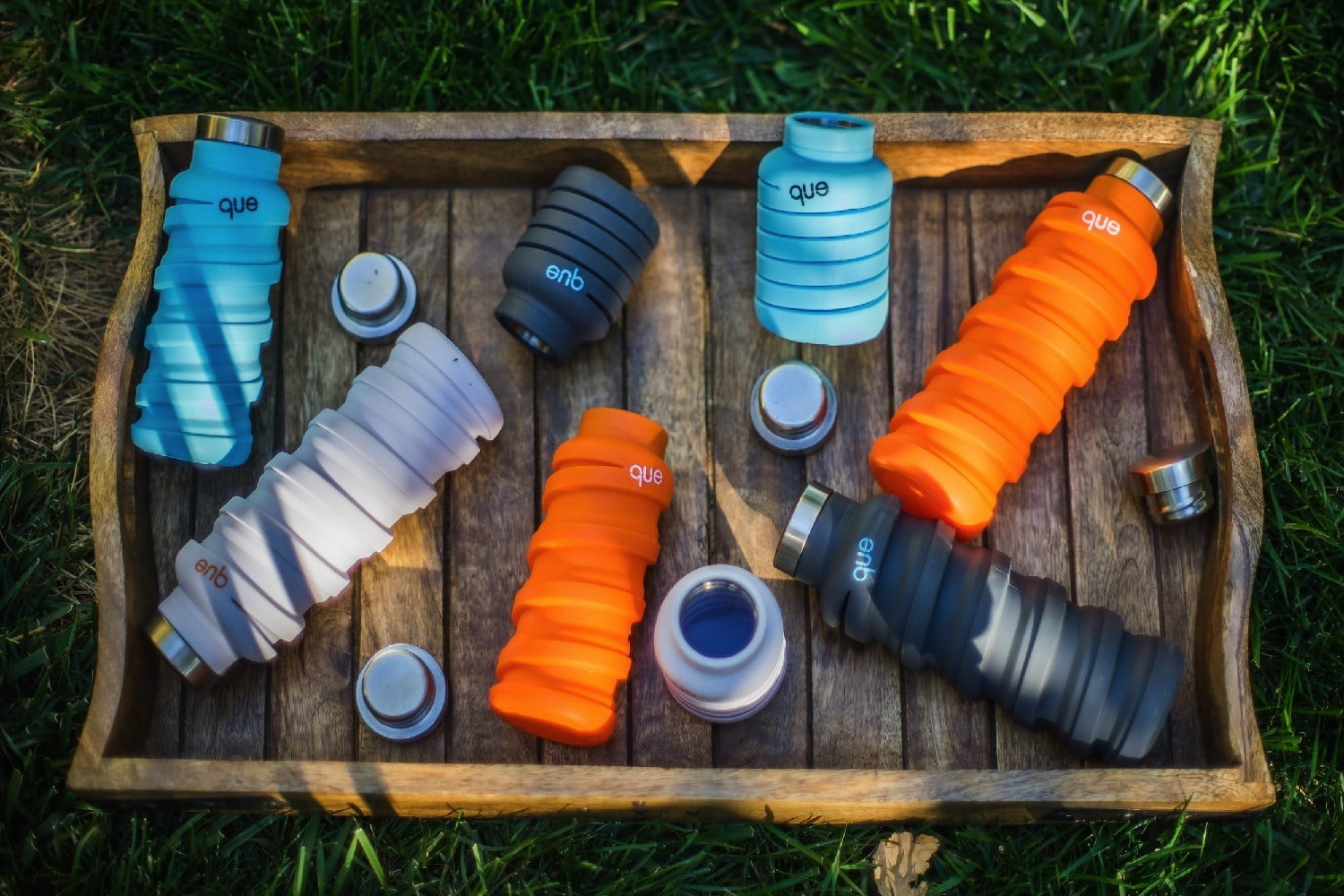 Que is the collapsible water bottle you'll want for your next hike