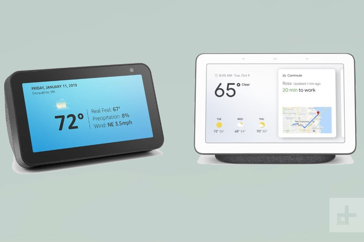 Entry-level smart displays: Google Nest Hub and Amazon Echo Show 5