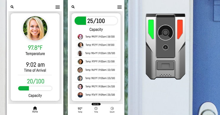 This video doorbell can tell if the person on your doorstep has a fever