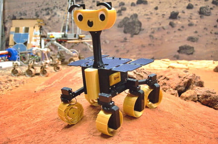 This ExoMy Mars rover kit is a building project for the holidays