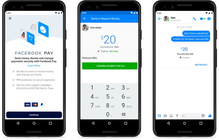 facebook introduces pay payment feature