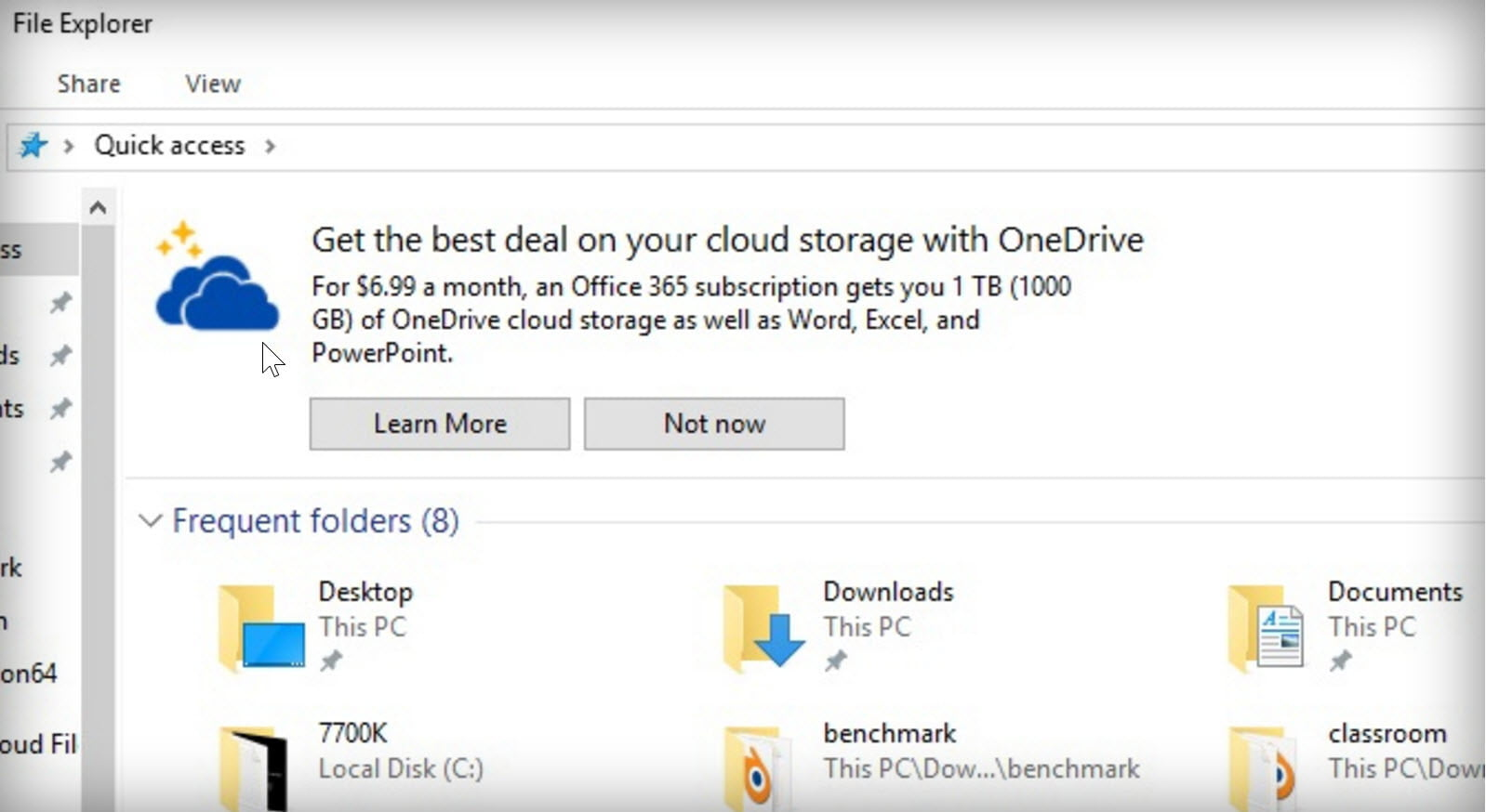 Microsoft is spamming Windows 10 File Explorer with OneDrive