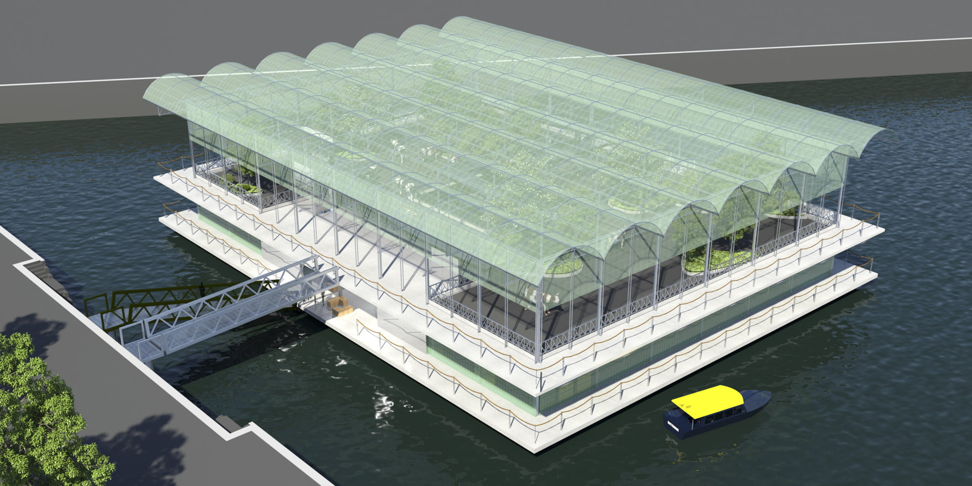 To make more room for livestock, the Dutch will moove cows to a floating farm