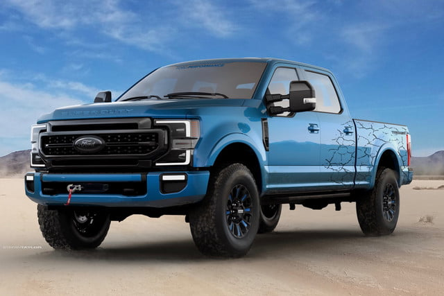 2020 ford f series super duty at sema 2019 accessories 250 tremor crew cab with black appearance package