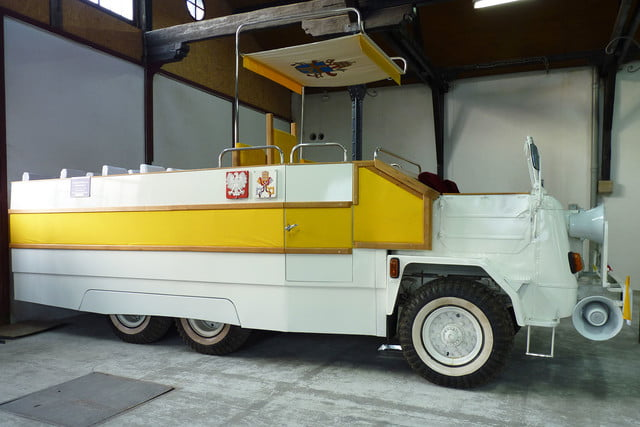 10 sweet popemobiles that will make you wish held the keys of heaven fsc star 660  1979 1