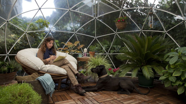 the garden igloo is a geodesic dome for your lawn 004