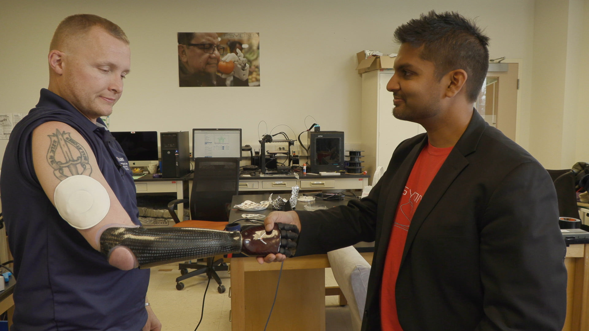 Flexible, wireless skin interface could restore amputees' sense of touch