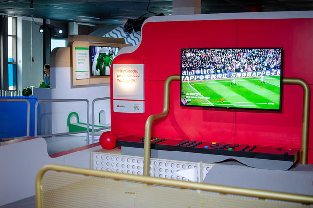 googles mini golf pop up event in nyc highlights its smart home products google tv soccer
