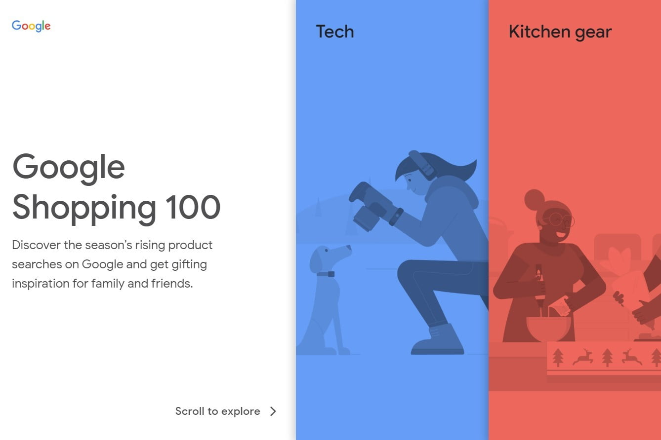 Google's new Shopping 100 site uses trends to help you find the perfect gift