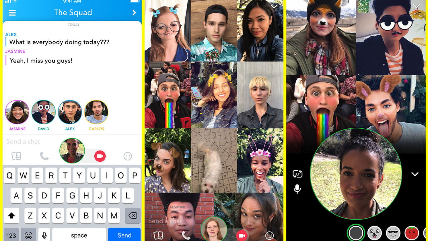 Hangout Via Video Chat With Large Groups With Snapchat's New