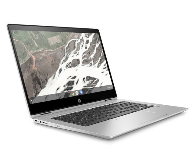 hp launches amd chromebook ces 2019 x360 14 g1 front right