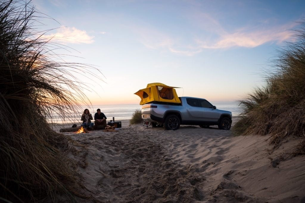 New Rivian video showcases its electric trucks' camping credentials
