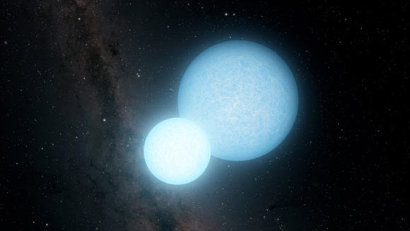 This pair of white dwarf stars orbit each other at record-breaking speeds