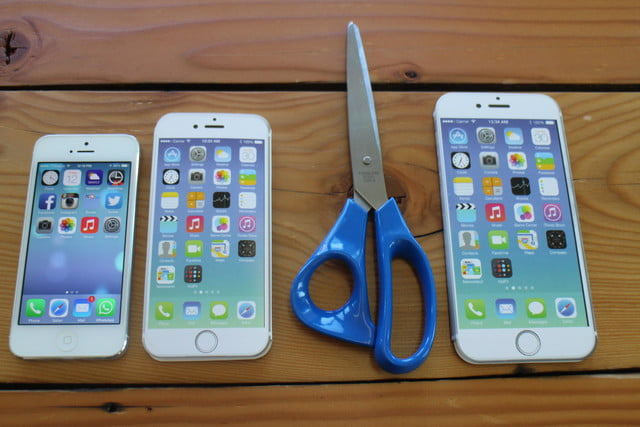 iphone 6 plus size comparison scissors