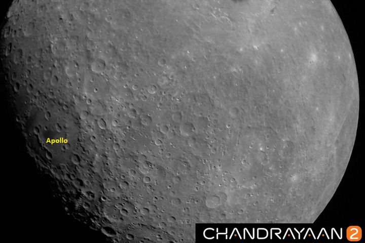 India's Chandrayaaan-2 lunar lander sent back a gorgeous photo of the moon