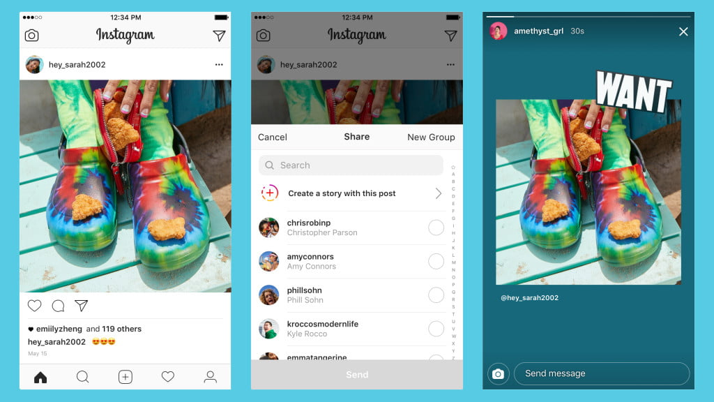 Instagram Finally (Sort of) Gets That Share Button in the