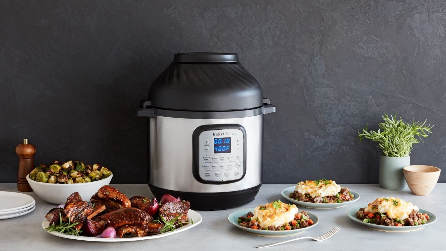 Create more healthy meals with the 11-in-1 Instant Pot Duo Crisp and Air Fryer