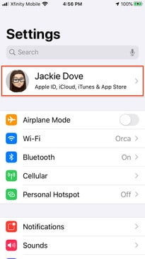 Restoring texts with iCloud backup