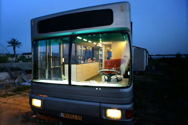coolest bus to mobile home conversions israelbusafter2