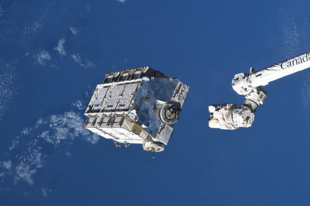 What was inside the space station pallet jettisoned into space on Thursday?