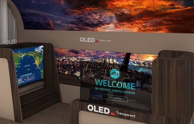 lg rollable oled tv ces 2020 aircraft