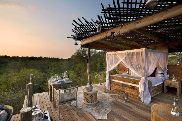 retreat from society and relax in these idyllic cabins around the world lion sands game reserve 5