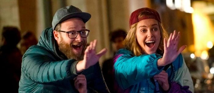 Seth Rogen and Charlize Theron in Long Shot