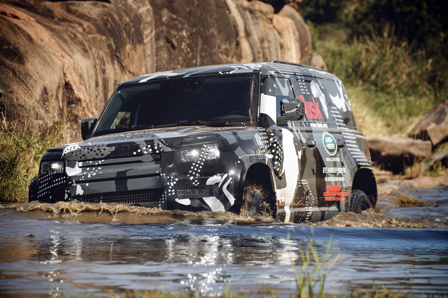 New Land Rover Defender off-roader goes on safari to prove its toughness