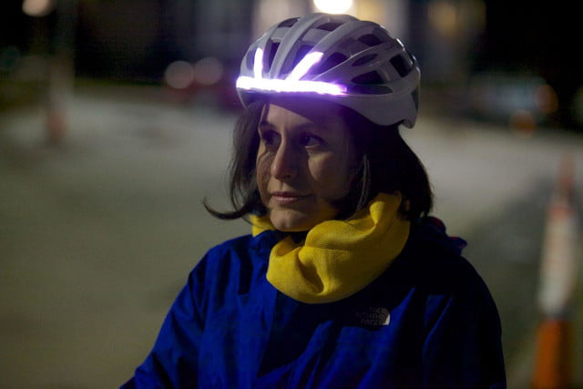 Lumos bike helmet lights
