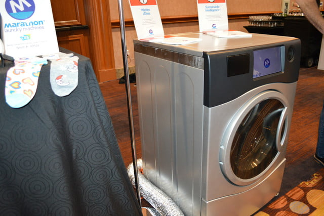 the marathon laundry machine is a washer and dryer in one