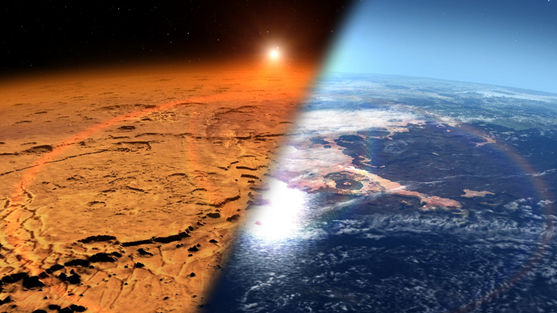 Mars was once an ocean-covered planet with a thick atmosphere like Earth's