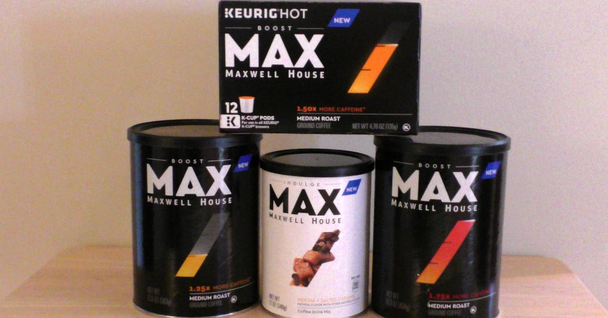 Maxwell House Max Boost Comes In Different Caffeine