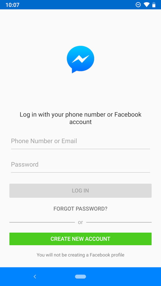 how to use facebook messenger without a account 1