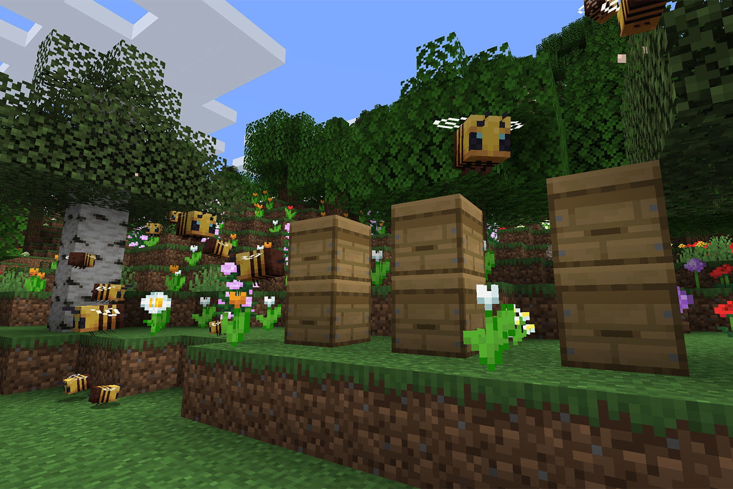 Minecraft Bees Guide Spawn Locations Hives Honey